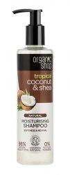 Organic Shop, naturalny nawilżający szampon Kokos&Shea, 280ml