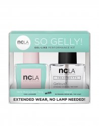 NCLA So Gelly!, zestaw lakier+top do paznokci, Santa Monica Shore, 2x15ml