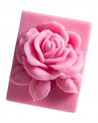 LaQ, mydło glicerynowe, róża w prostokącie