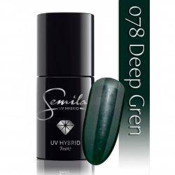 Semilac lakier hybrydowy 078 Deep Green, 7ml