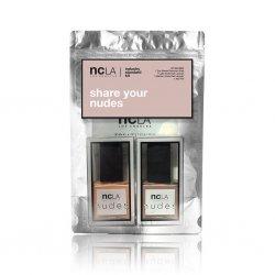 NCLA Share Your Nudes, zestaw lakierów do paznokci, 2x15ml