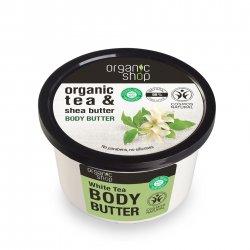 Organic Shop, naturalne wygładzające masło do ciała Biała herbata, 250ml