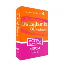 Bioelixire Macadamia Oil & Collagen, serum z olejkiem macadamia, 20ml