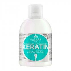 Kallos KJMN Keratin, szampon z keratyną ułatwiający prostowanie, 1000ml