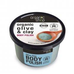 Organic Shop, naturalny oczyszczający peeling do ciała Oliwka&Glinka, 250ml