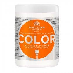 Kallos KJMN Color, maska do włosów farbowanych, 1000ml