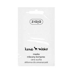 Ziaja Kozie Mleko, maska Mleczny Kompres do cery suchej, 7ml