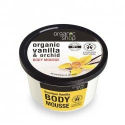 Organic Shop, naturalny nawadniający mus do ciała Wanilia, 250ml