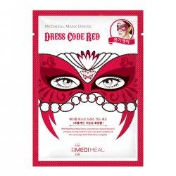 Mediheal Mask Dress Code Red, maska karnawałowa rozświetlająco-odmładzająca, 27ml