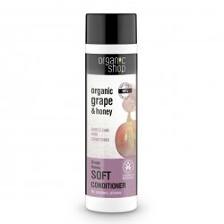 Organic Shop, naturalna odżywka do codziennej pielęgnacji włosów Winogrono&Miód, 280ml