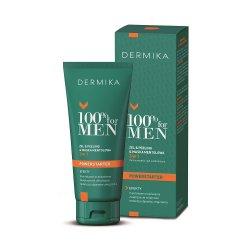 Dermika 100% For Men, żel & peeling & maska mentolowa 3w1, 100ml