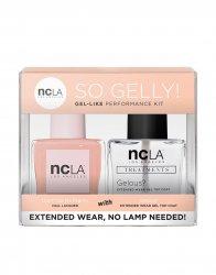 NCLA So Gelly!, zestaw lakier+top do paznokci, Don't Call Me Peachy, 2x15ml