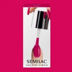 Semilac One Step Hybrid, lakier hybrydowy, 5ml, S685 Pink Purple