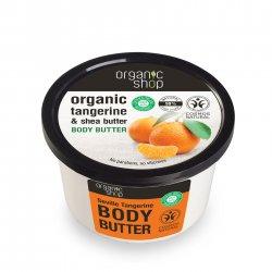 Organic Shop, naturalne zmiękczające masło do ciała Mandarynka, 250ml