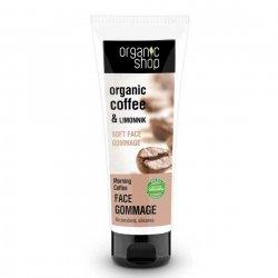 Organic Shop, wygładzający peeling gommage do twarzy Kawa, 75ml