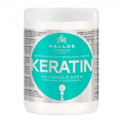 Kallos KJMN Keratin, maska do włosów ułatwiająca prostowanie, 1000ml
