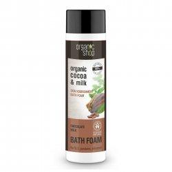 Organic Shop, naturalny odżywczy płyn do kąpieli Mleko czekoladowe, 500ml