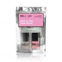 NCLA Pink Is The New Black, zestaw lakierów do paznokci, 2x15ml