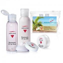 Arkana Biomimetic, podr�ny zestaw mini kosmetyk�w przeciwzmarszczkowych, kosmetyczka gratis