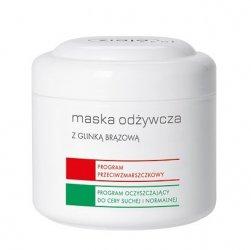 Ziaja Pro, maska odżywcza glinką brązową, program przeciwzmarszczkowy i oczyszczający do cery suchej i normalnej, 200ml