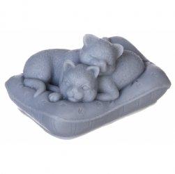 LaQ, mydło glicerynowe, koty na poduszce