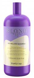 Inebrya Blondesse No Yellow, szampon do włosów siwych i rozjaśnianych, 1000ml
