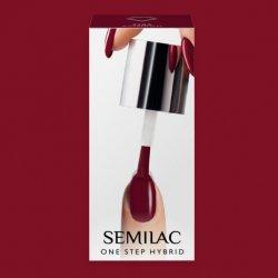 Semilac One Step Hybrid, lakier hybrydowy, 5ml, S580 Crimson