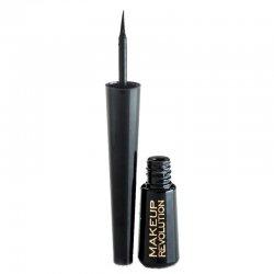 Makeup Revolution, eyeliner w płynie, Amazing Black