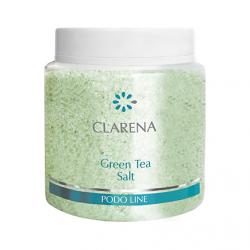 Clarena Podo Line, sól do stóp z zieloną herbatą, 600g