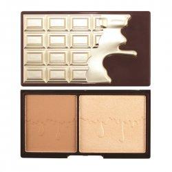 Makeup Revolution I Heart Makeup Chocolate Bronze and Glow, paleta do konturowania
