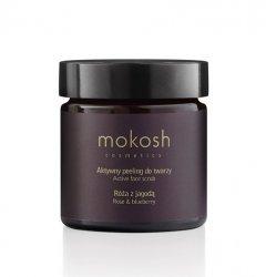 Mokosh, aktywny peeling do twarzy, róża z jagodą, 60ml