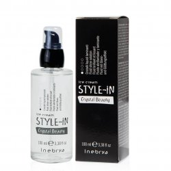 Inebrya Style-In Crystal Beauty, nabłyszczający fluid do włosów, 100ml