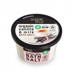 Organic Shop, naturalna relaksująca sól do kąpieli Wanilia, 250ml