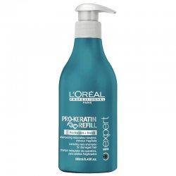 Loreal Pro-Keratin Refill, szampon keratynowy do włosów mocno zniszczonych, 500ml