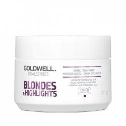 Goldwell Dualsenses Blondes & Highlights, 60-sekundowa kuracja neutralizująca, 200ml