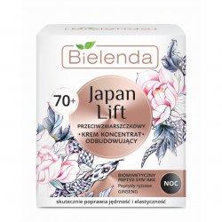 Bielenda Japan Lift, odbudowujący krem-koncentrat przeciwzmarszczkowy na noc 70+, 50ml