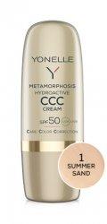 Yonelle Metamorphosis, hydroaktywny krem koloryzujący CCC, SPF 50, 1 Summer Sand, 30ml