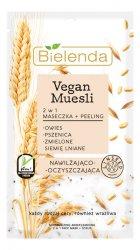 Bielenda Vegan Muesli, maseczka + peeling 2w1, nawilżanie i oczyszczanie, 8g