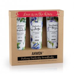 Anwen, wegański zestaw 3 odżywek do średniej porowatości (zielona herbata, irys, bez)