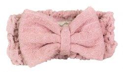 Nacomi, opaska na włosy z mikrofibry, różowa, 1szt