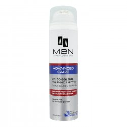 AA MEN Advanced Care, żel do golenia twardego zarostu, 200 ml