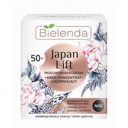 Bielenda Japan Lift, ujędrniający krem-koncentrat przeciwzmarszczkowy 50+ na noc, 50ml