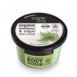 Organic Shop, naturalny wygładzający peeling do ciała Trawa cytrynowa, 250ml