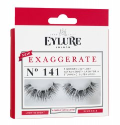Eylure Exaggerate, sztuczne rzęsy z klejem, podwójna objętość, N 141