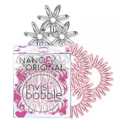 Invisibobble Nano&Original Bee Mine, zestaw gumek do włosów