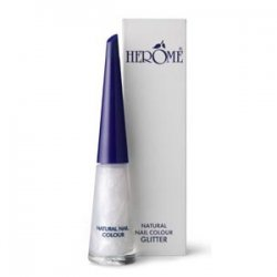 Herome Natural Nail Colour Glitter, naturalny lakier do paznokci, połyskujący, 10ml