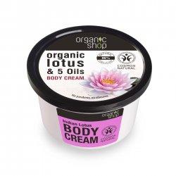 Organic Shop, naturalny odmładzający krem do ciała Lotos, 250ml