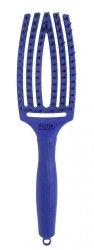 Olivia Garden Fingerbrush Tropical, szczotka z włosiem z dzika, średnia, blue