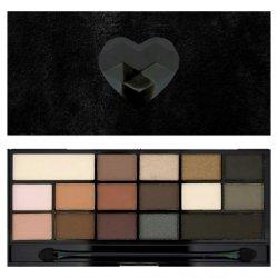 Makeup Revolution, paleta cieni do powiek, Black Velvet
