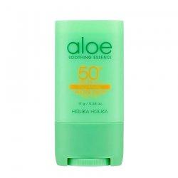 Holika Holika Aloe Soothing Essence, sztyft ochronny przeciwsłoneczny SPF 50 PA++++, 23ml